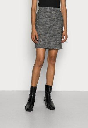 CHECK - Mini skirt - anthracite