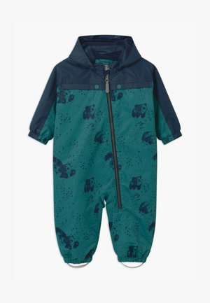 DOTS UNISEX - Snowsuit - dark green/dark blue