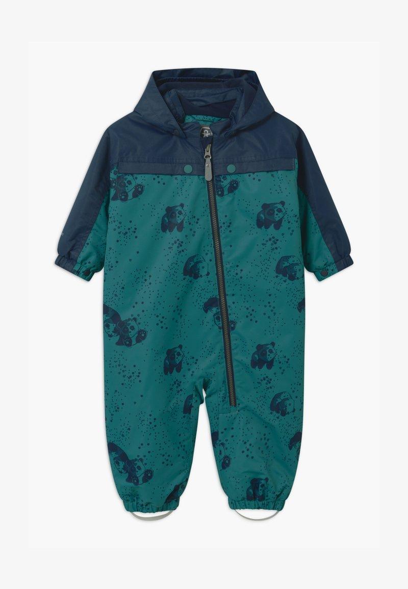 Color Kids - DOTS UNISEX - Snowsuit - dark green/dark blue