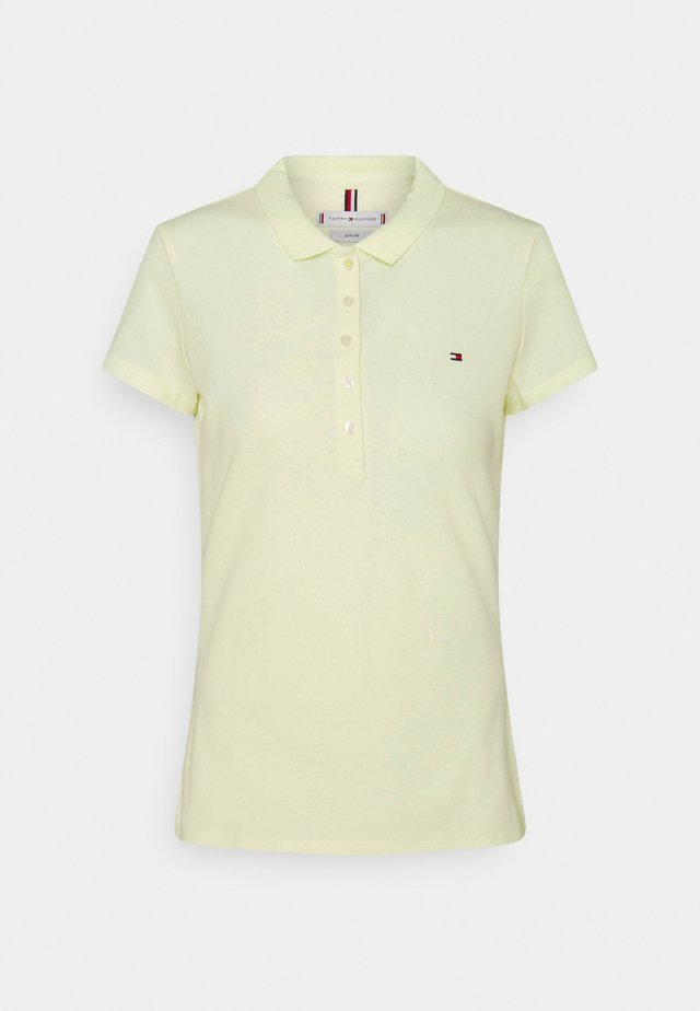 SHORT SLEEVE SLIM - Poloshirts - yellow