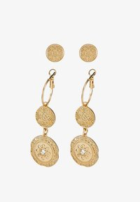 Miss Selfridge - DOUBLE COIN 2 PACK - Earrings - gold-coloured - 3
