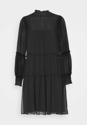 DIVINE RUFFLE DRESS - Sukienka letnia - black