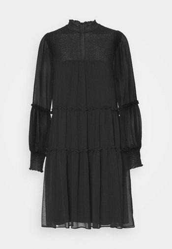 DIVINE RUFFLE DRESS - Denní šaty - black