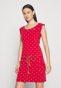 Ragwear - TAG DOTS - Jersey dress - red - 0