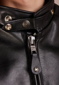 Schott Made in USA - CLASSIC CAFE RACER - Leather jacket - black - 7