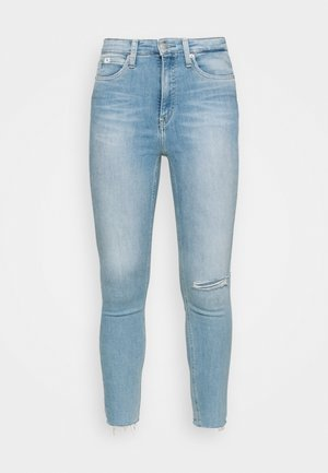 HIGH RISE SUPER SKINNY ANKLE - Jeans Skinny Fit - blue