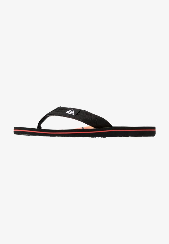 MOLOKAI LAYBACK - Pool shoes - black/grey/yellow