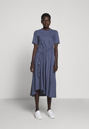 DRAW DRESS - Jersey dress - indigo