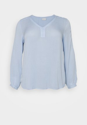 KCAMI BLOUSE - Long sleeved top - chambray blue
