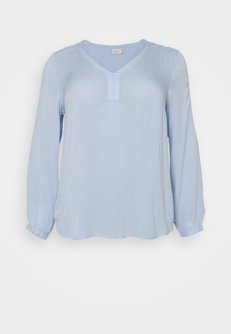 Kaffe Curve - KCAMI BLOUSE - Long sleeved top - chambray blue
