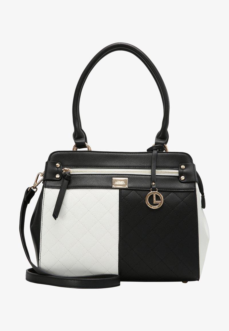 L.CREDI - GIULIA - Handbag - schwarz/ weiss