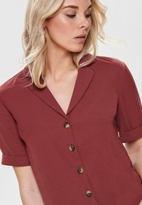 ONLY - Button-down blouse - dark red - 3