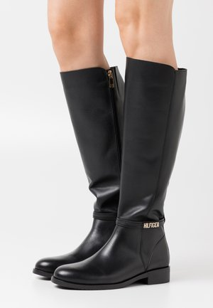 BLOCK BRANDING LONG BOOT - Kozaki - black
