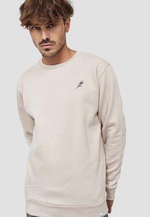 CREW NECK FEDER - Sweatshirt - beige
