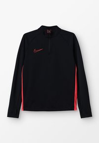 Nike Performance - DRY ACADEMY DRIL - Sports shirt - black/ember glow - 0