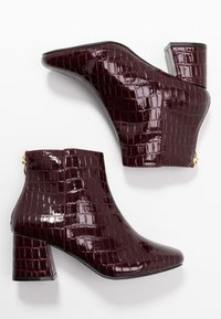 Miss Selfridge Wide Fit - WIDE FIT BRIXTON ZIP BACK SQUARE TOE - Ankle boots - burgandy - 3