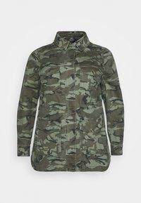 New Look Curves - POCKET CAMO SHACKET - Short coat - khaki - 4