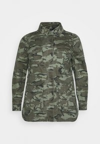POCKET CAMO SHACKET - Short coat - khaki