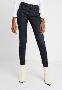 G-Star - LYNN BIKER MID SKINNY - Jeans Skinny Fit - worn in tidal cobler - 0