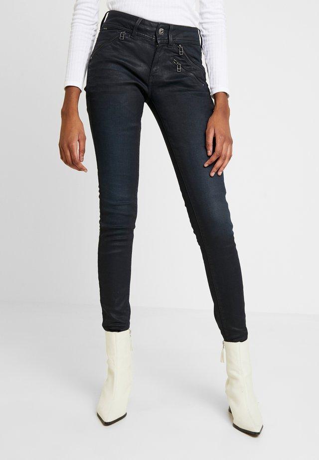 LYNN BIKER MID SKINNY - Jeans Skinny - worn in tidal cobler