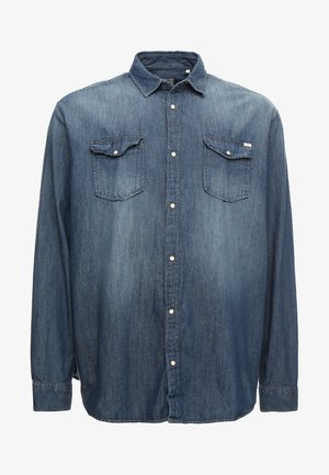 JJESHERIDAN PLUS - Shirt - medium blue denim