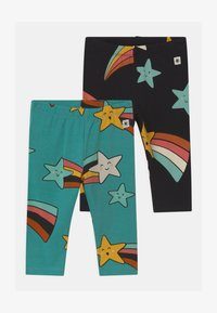 Lindex - STAR PRINT 2 PACK UNISEX - Leggings - Trousers - off black - 0
