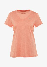 Under Armour - TECH TWIST - Basic T-shirt - peach plasma/metallic silver - 4