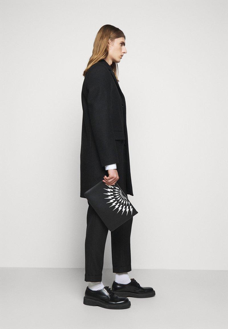 Neil Barrett - THUNDERBOLT FAIRISLE - Laptop bag - black/white