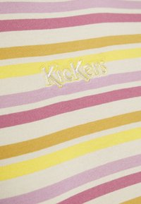 Kickers Classics - STRIPED RINGER WITH CENTRAL EMBROIDERED LOGO - Sukienka z dżerseju - yellow/pink - 2