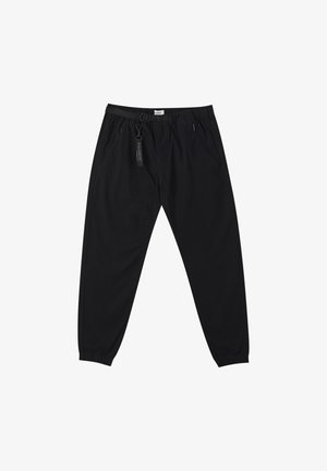 Trousers - metallic black