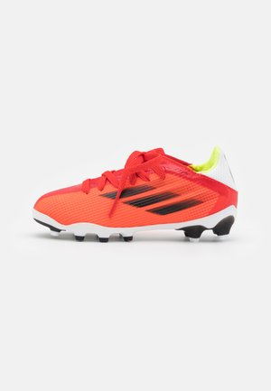 X SPEEDFLOW.3 MG UNISEX - Chaussures de foot à crampons - red/core black/solar red