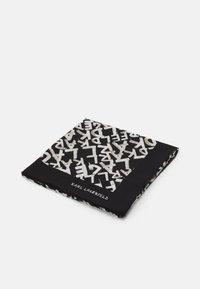 KARL LAGERFELD - GRAFITI SQUARE SCARF - Foulard - black/white - 0