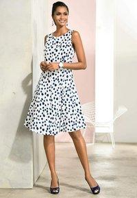 Alba Moda - Day dress - weiß marineblau - 3