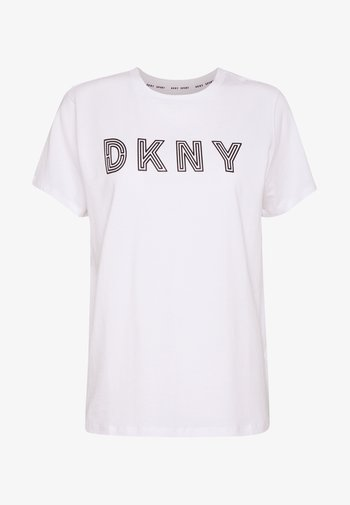TRACK LOGO - T-shirt print - white