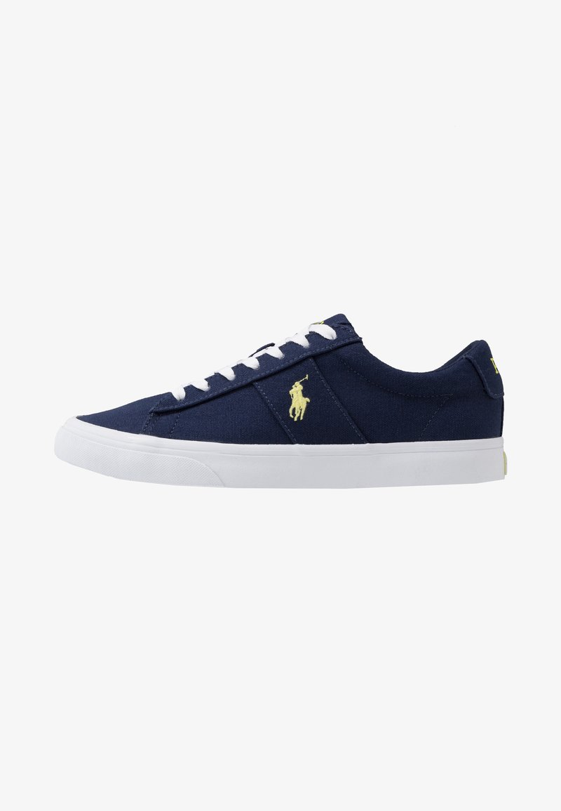 Polo Ralph Lauren - SAYER - Sneakers laag - navy/neon yellow