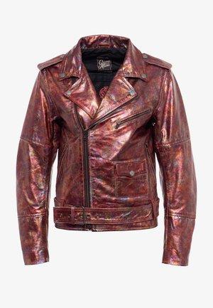 Leather jacket - blutrot