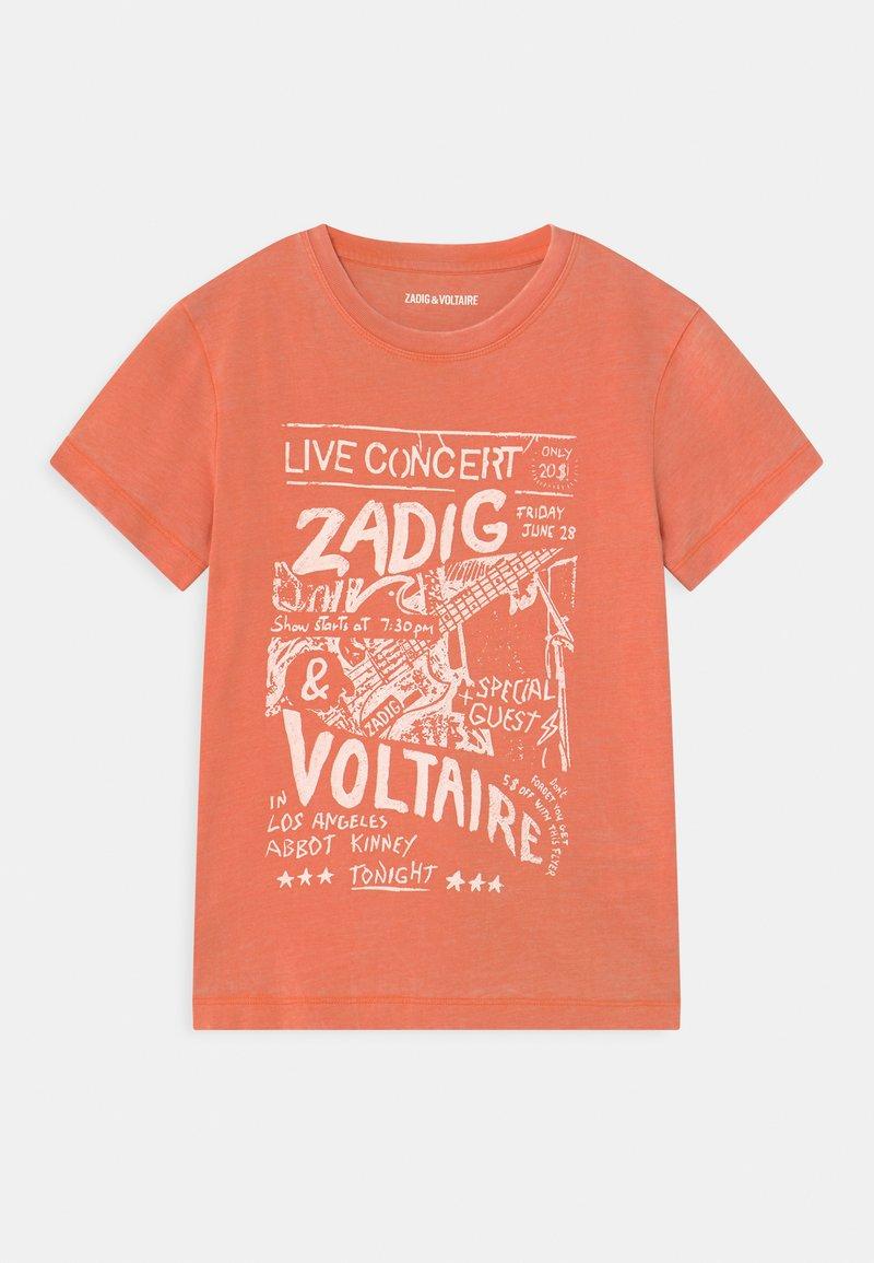 Zadig & Voltaire - SHORT SLEEVES - Triko spotiskem - nectarine