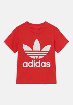 TREFOIL TEE UNISEX - T-shirt con stampa - red/white
