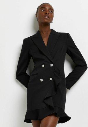 BLACK RUFFLED  - Blazer - black