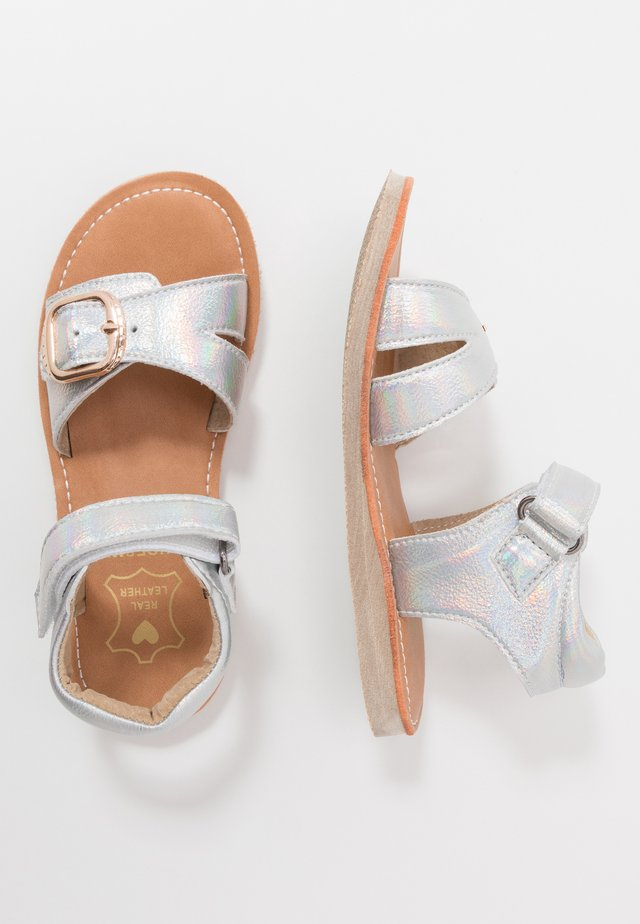 CLASSIC - Sandals - white pearl silver