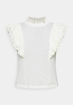 PCLUCY T NECK - Camiseta estampada - cloud dancer