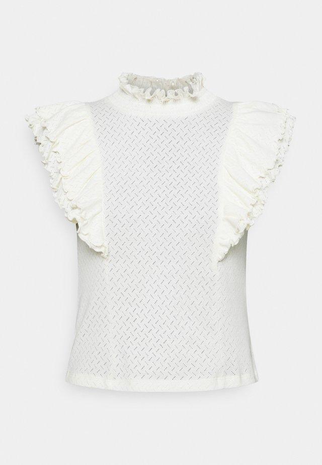 PCLUCY T NECK - Print T-shirt - cloud dancer