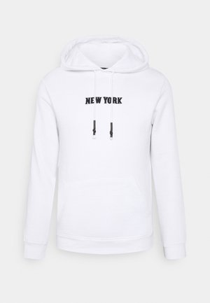 MANHATTAN - Sweat à capuche - optic white/jet black