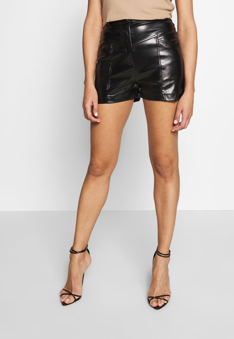 Missguided - STITCH DETAIL - Shorts - black