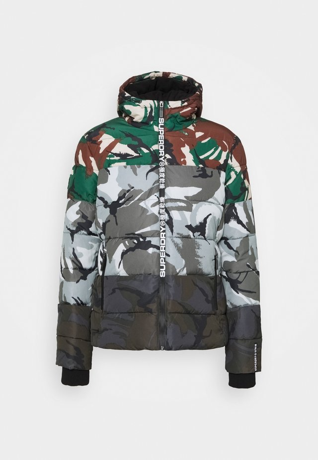 CAMO MIX SPORTS PUFFER - Giacca invernale - multi-coloured