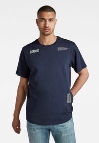 G-Star - C&S BACK MULTI GRAPHIC LOOSE - Print T-shirt - warm sartho - 0
