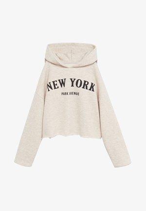 NEWYORK - Mikina skapucí - sable