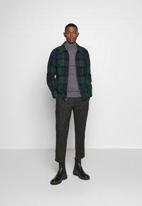 J.CREW - ZIP FRONT BLACKWATCH - Summer jacket - green black - 1