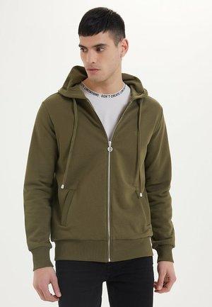 ESSENTIALS  - Zip-up hoodie - dark olive