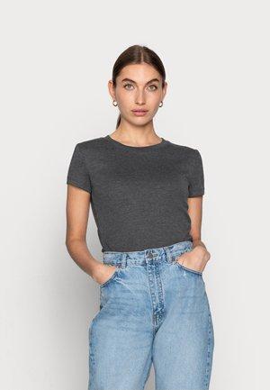 Basic T-shirt - mottled dark grey